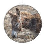 Adorable Donkey Dartboard With Darts