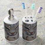 Creeping Bobcat Soap Dispenser And Toothbrush Holder