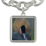 Curious African Crowned Crane Bracelet