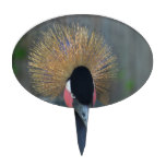 Curious African Crowned Crane Cake Topper