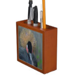 Curious African Crowned Crane Pencil Holder