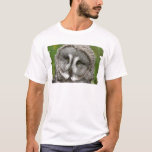 Great Grey Owl Men's Necktie T-Shirt