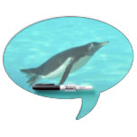 Penguin Swimming Underwater Dry-Erase Board