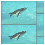 Penguin Swimming Underwater Fabric