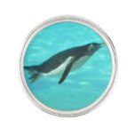 Penguin Swimming Underwater Lapel Pin