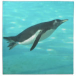 Penguin Swimming Underwater Napkin