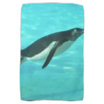 Penguin Swimming Underwater Towel