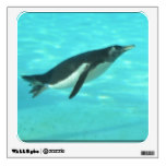 Penguin Swimming Underwater Wall Sticker