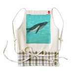 Penguin Swimming Underwater Zazzle HEART Apron