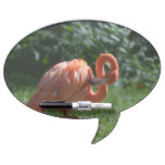 Perfect Pink Flamingo Dry Erase Board