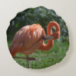 Perfect Pink Flamingo Round Pillow