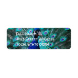 Pretty Peacock Return Address Mailing Label