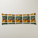 Ruffled Blue and Gold Macaw Body Pillow