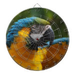 Ruffled Blue and Gold Macaw Dartboard