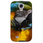 Ruffled Blue and Gold Macaw Galaxy S4 Case
