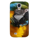 Ruffled Blue and Gold Macaw Samsung S4 Case