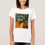 Ruffled Blue and Gold Macaw T-Shirt