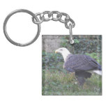 Standing American Bald Eagle Keychain