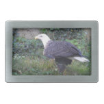Standing American Bald Eagle Rectangular Belt Buckle