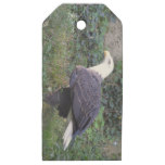 Standing American Bald Eagle Wooden Gift Tags