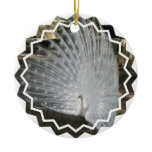 White Peacock Ornaments